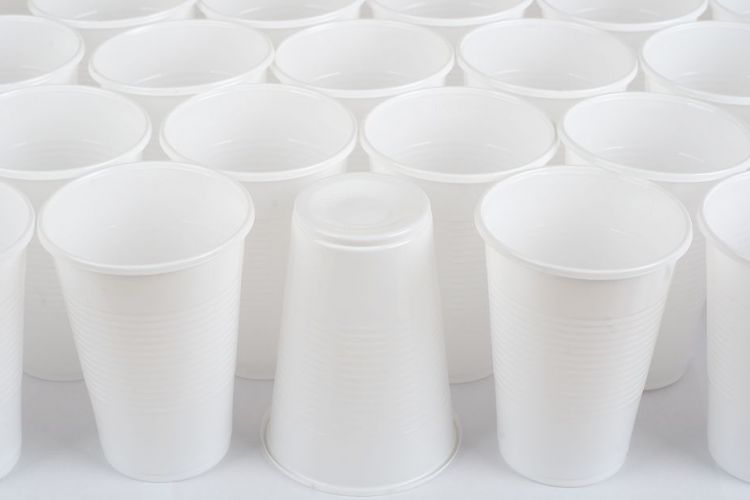 White Rimmed Cups