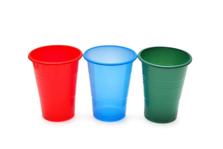 Colored Rimmed Drinking Cups
